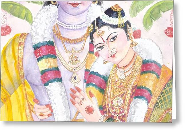 Andal Krishna Greeting Card by Parimala Devi Namasivayam
