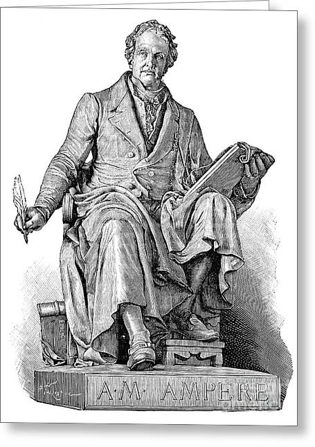Electric Current Greeting Cards - Andre-marie Ampere, French Physicist Greeting Card by Spl