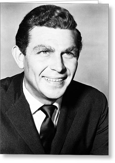 Best Sellers -  - Andy Griffith Show Greeting Cards - Andy Griffith in The Andy Griffith Show  Greeting Card by Silver Screen