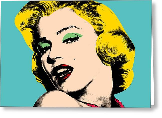Andy Greeting Cards - Andy Warhol Greeting Card by Mark Ashkenazi