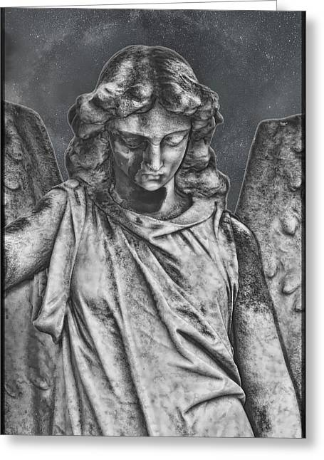 Angels Pyrography Greeting Cards - Angel Greeting Card by Richard Macintyre