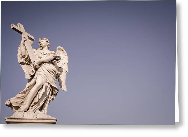 Italian Culture.italian Renaissance Greeting Cards - Angel statue Greeting Card by Mesha Zelkovich