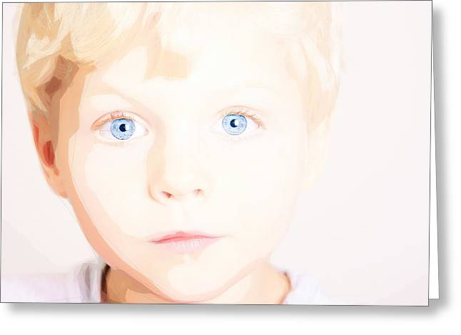 Innocence Child Greeting Cards - Angelic Innocence Greeting Card by Celestial Images