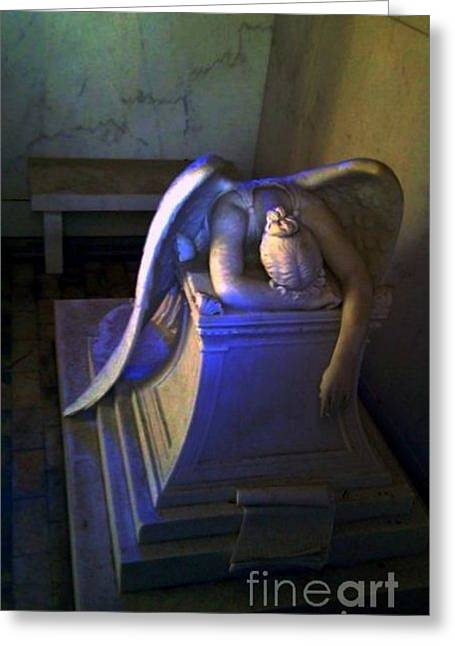 New Orleans Louisiana Framed Prints Greeting Cards - Angelic Sorrow Greeting Card by Michael Hoard