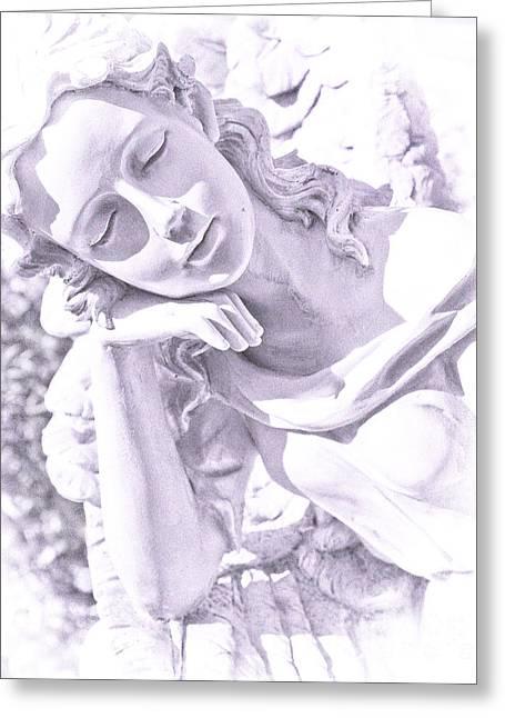Angel Art Greeting Cards - Angelic  Greeting Card by Theresa Tahara
