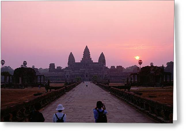 Cambodia Greeting Cards - Angkor Wat Cambodia Greeting Card by Panoramic Images
