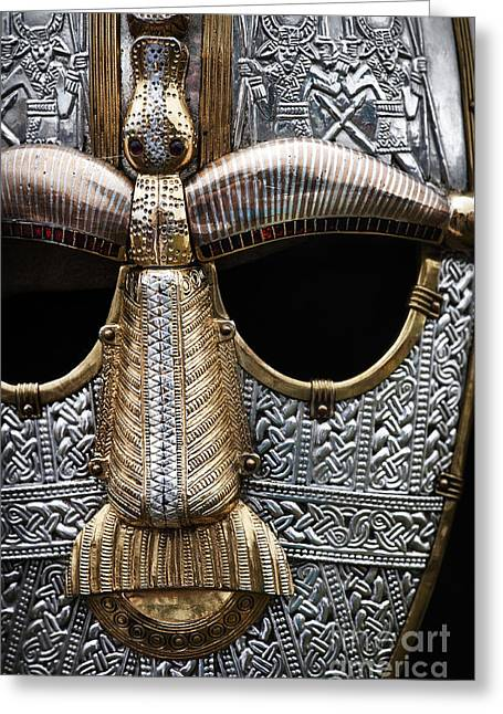 Metalwork Greeting Cards - Anglo Saxon Helmet Greeting Card by Tim Gainey