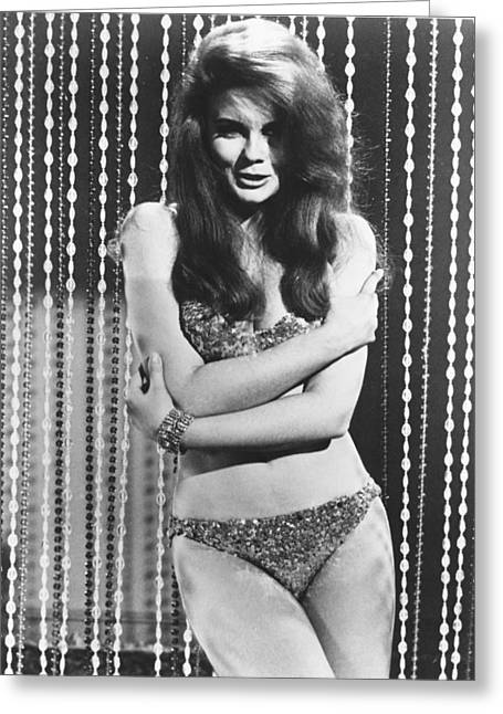 Ann-margret In The Swinger Greeting Card by Silver Screen