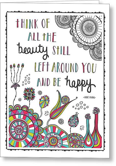 Anne Frank Quote Greeting Card by Susan Claire