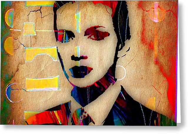 Annie Lennox Collection Greeting Card by Marvin Blaine