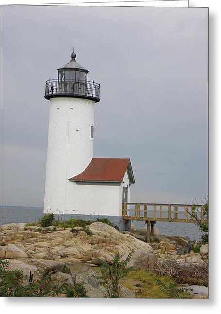 Maine Lighthouses Greeting Cards - Annisquam Lighthouse Greeting Card by Paul Maurer