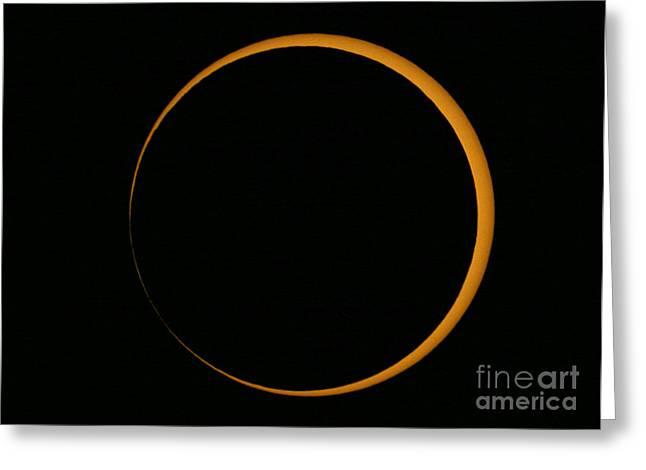 Solar Eclipse Greeting Cards - Annular Solar Eclipse, 2005 Greeting Card by Babak Tafreshi