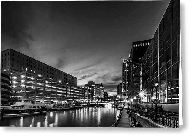 Riverwalk Greeting Cards - Another Burned Out Streetlamp Greeting Card by Randy Scherkenbach