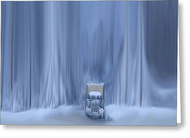 Blizzard Scenes Mixed Media Greeting Cards - Another Storm Greeting Card by Dennis Buckman