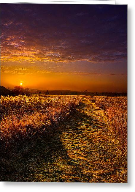 Geographic Greeting Cards - Another way Greeting Card by Phil Koch