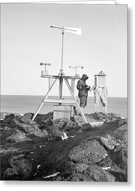 Antarctic Meteorology Research Greeting Card by Scott Polar Research Institute