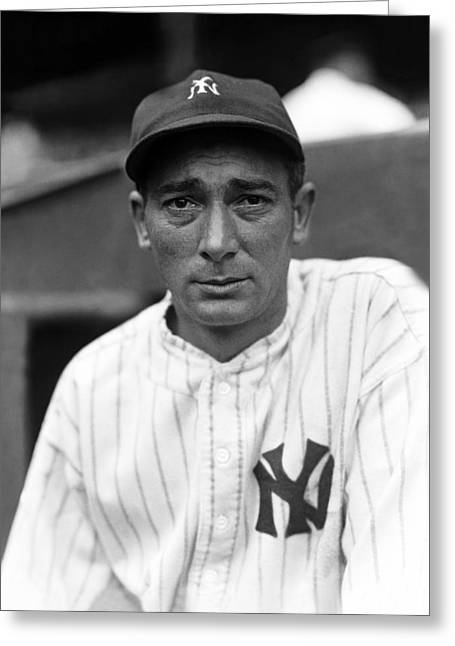 Mlb All Stars Greeting Cards - Anthony M. Tony Lazzeri Greeting Card by Retro Images Archive