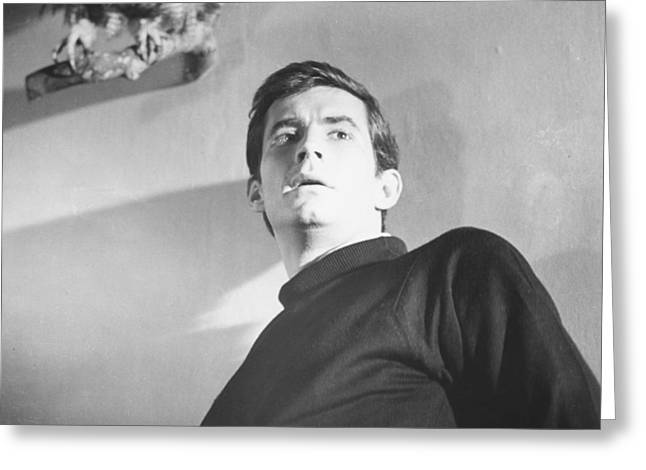 Anthony Greeting Cards - Anthony Perkins Greeting Card by Silver Screen