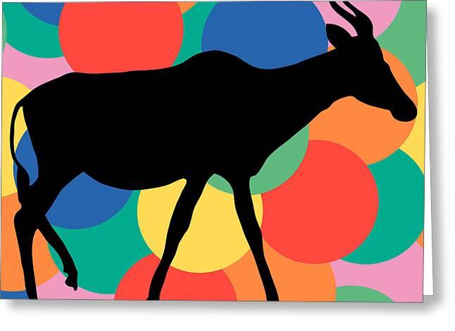Gemsbok Greeting Cards - Antilope Greeting Card by Celestial Images