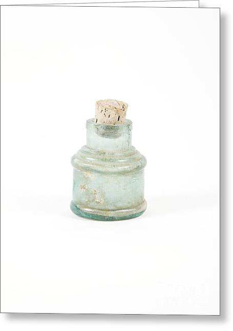 Glass Bottle Greeting Cards - Antique Bottle Greeting Card by Gregory Davies / Medinet Photographics