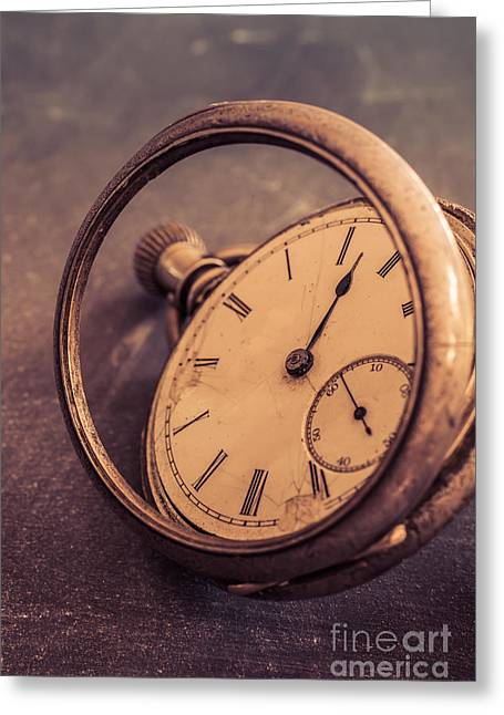 Timepieces Greeting Cards - Antique Pocket Watch Greeting Card by Edward Fielding