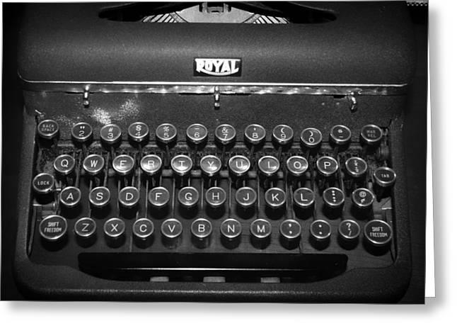 Antique Royal Typewriter Greeting Card by Mountain Dreams