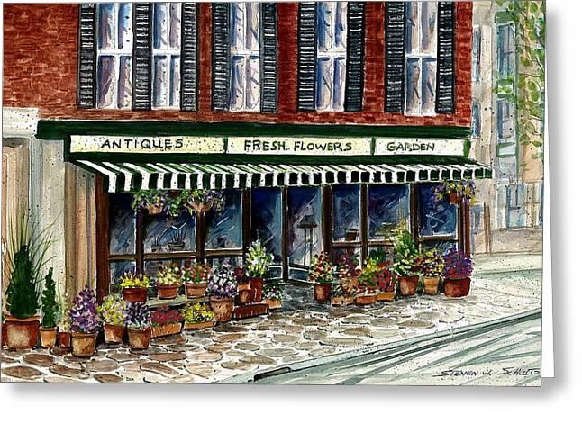 Antique Shop Greeting Card by Steven Schultz