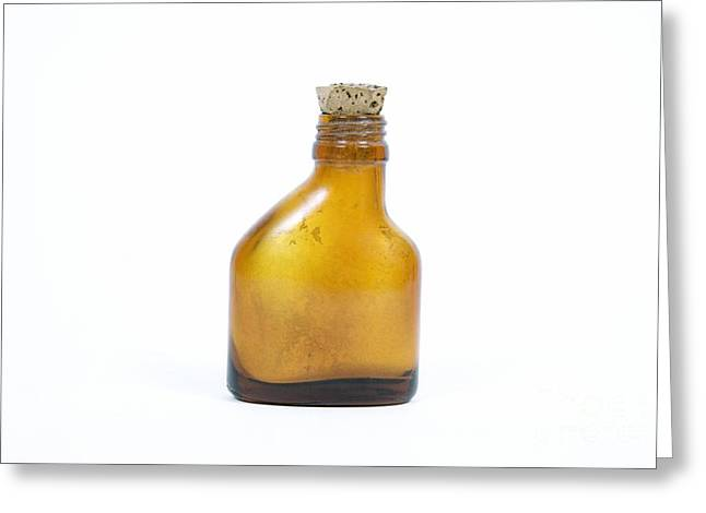 Smelling Salts Greeting Cards - Antique Smelling Salts Bottle Greeting Card by Gregory Davies / Medinet Photographics