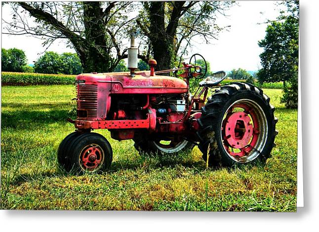 Julie Dant Artography Photographs Greeting Cards - Antique Tractor  Greeting Card by Julie Dant