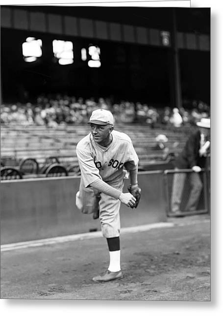 Boston Red Sox Greeting Cards - Anton F. Tony Welzer Greeting Card by Retro Images Archive