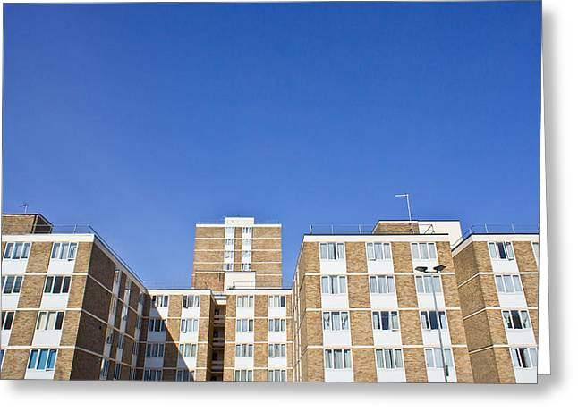 Budget Greeting Cards - Apartments Greeting Card by Tom Gowanlock