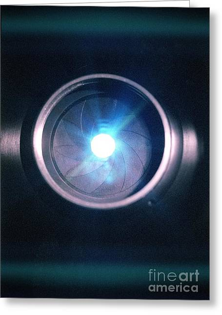 Aperture Greeting Cards - Aperture Flare Greeting Card by Richard Kail