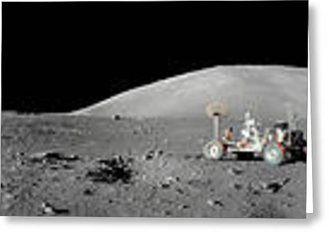 Sidereal Greeting Cards - Apollo 17 Station Greeting Card by Nasa