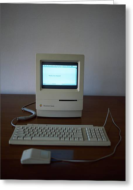 Pc Greeting Cards - Apple Macintosh Classic Desktop Pc Greeting Card by Panoramic Images
