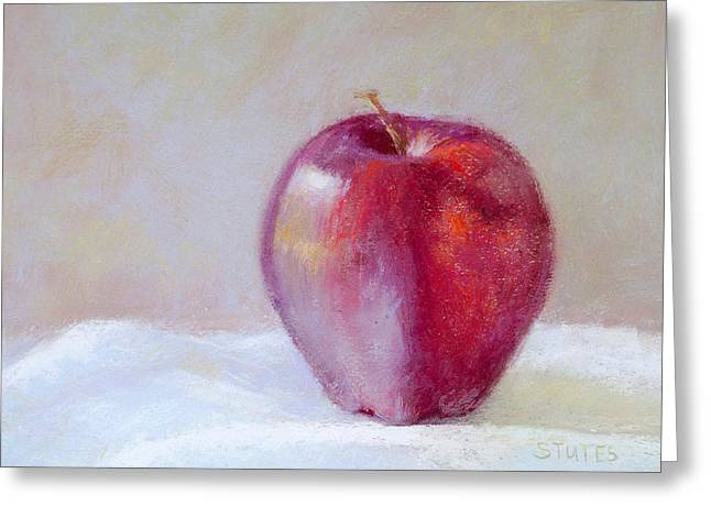 Original Art Greeting Cards - Apple Greeting Card by Nancy Stutes