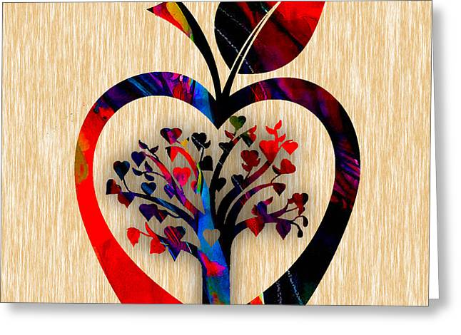 Tree Of Life Greeting Cards - Apple Tree Greeting Card by Marvin Blaine