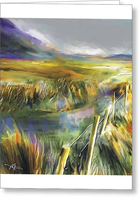 Approaching Rain  Achill Island Ireland Greeting Card by Bob Salo