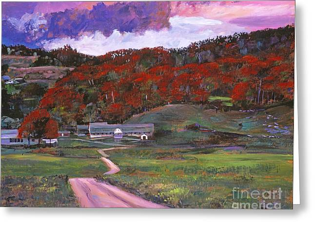 Outbuilding Greeting Cards - Approaching Storm Greeting Card by David Lloyd Glover
