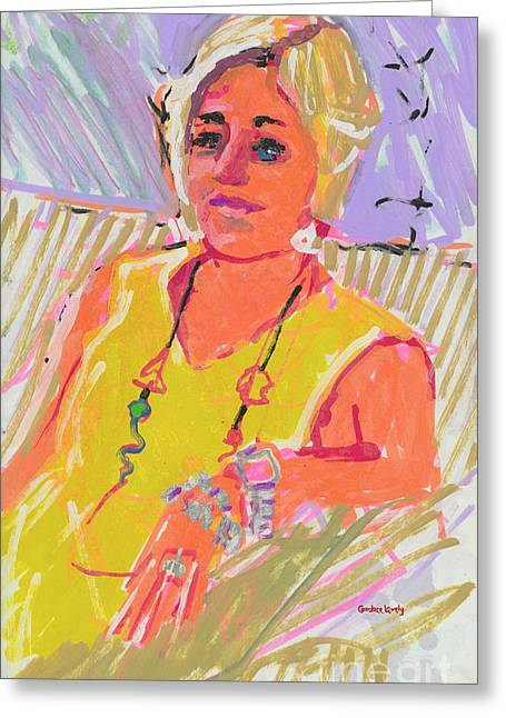 Lounge Paintings Greeting Cards - April Greeting Card by Candace Lovely