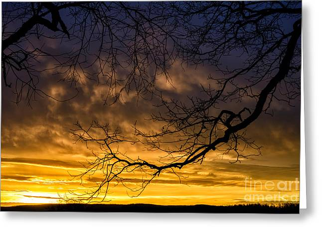 Colorful Cloud Formations Greeting Cards - April Sunrise Drama Greeting Card by Thomas R Fletcher