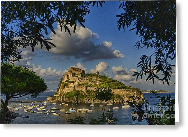 Hdr Landscape Photographs Greeting Cards - Aragonese Castle Greeting Card by Giovanni Chianese