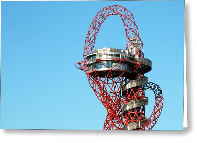 Arcelormittal Orbit Greeting Card by Alex Bartel