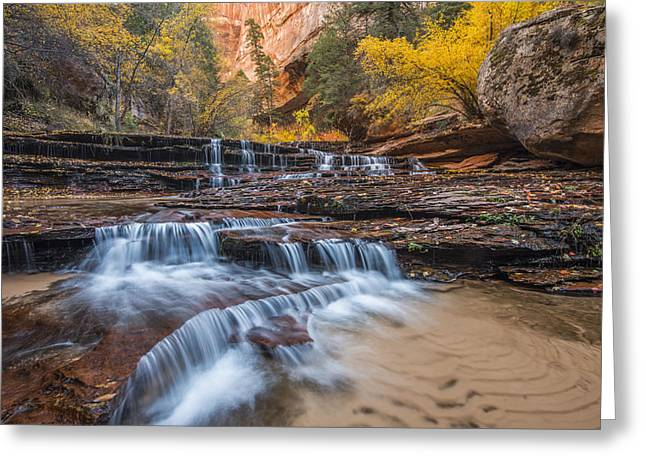 Backcountry Greeting Cards - Arch Angel Falls Greeting Card by Joseph Rossbach