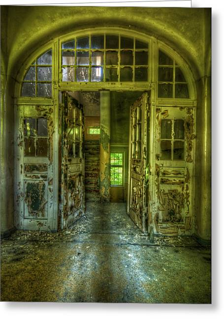 Haunted House Digital Greeting Cards - Arch door Greeting Card by Nathan Wright