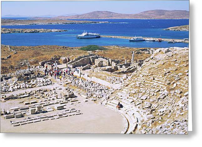 Archaeological Site On An Island Greeting Card by Panoramic Images