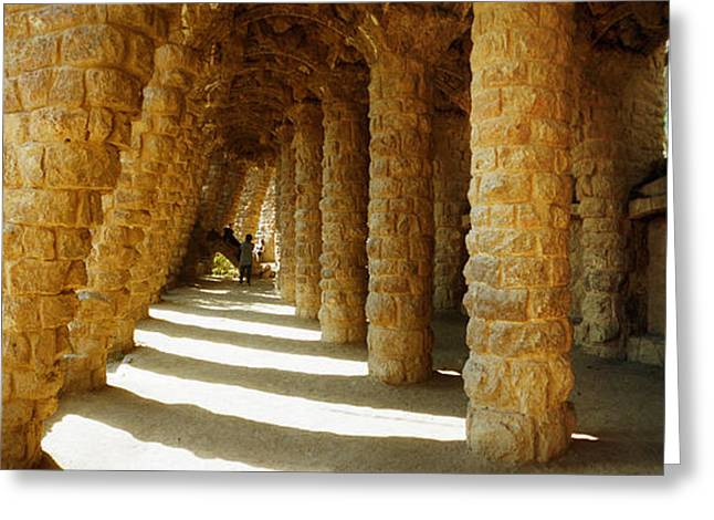 Guell Greeting Cards - Architectural Detail Of The Famous Park Greeting Card by Panoramic Images
