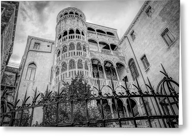 Iron Rail Greeting Cards - Architecture of Venice Greeting Card by Mountain Dreams