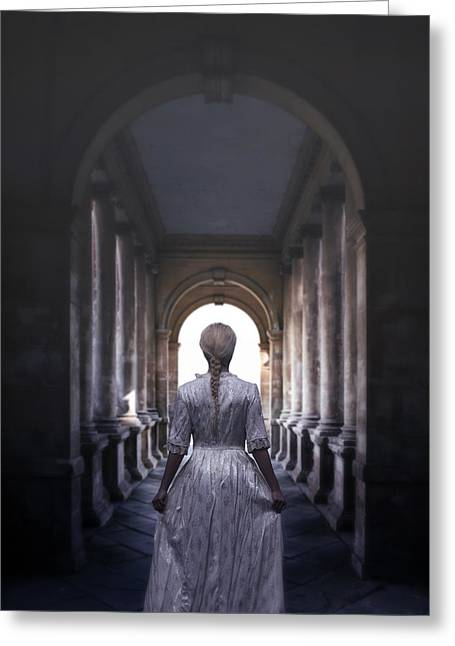 Young Lady Photographs Greeting Cards - Archway Greeting Card by Joana Kruse