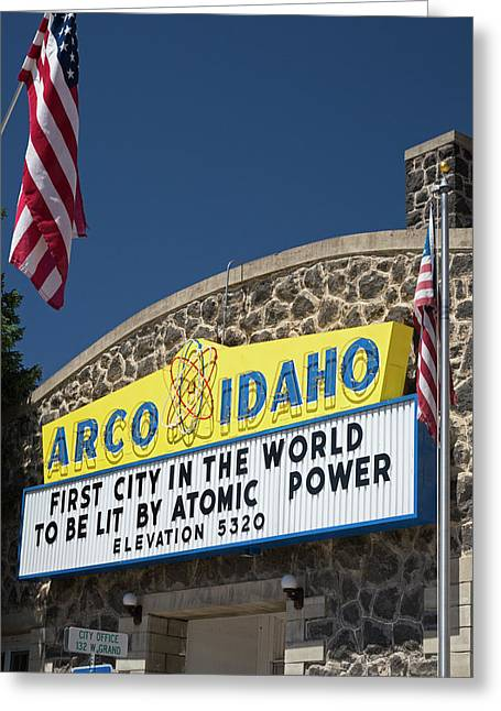 Arco Greeting Card by Jim West