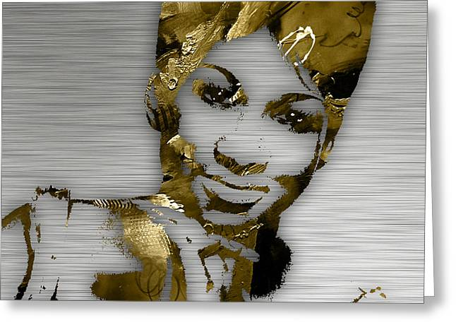 Pop Singer Greeting Cards - Aretha Franklin Collection Greeting Card by Marvin Blaine